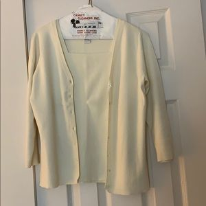 Cream cardigan and sweater top combo!